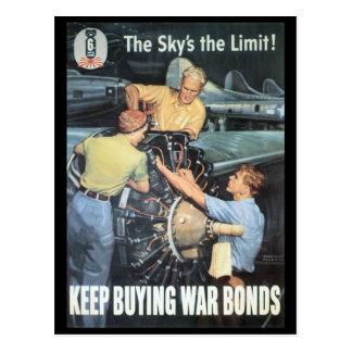 Carte Postale La deuxième guerre mondiale de la limite du ciel