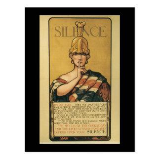 Carte Postale La deuxième guerre mondiale de silence