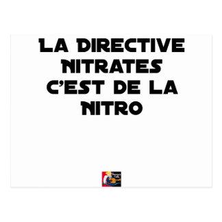Carte Postale La Directive Nitrates, c'est de la Nitro - Jeux de