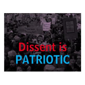 Carte Postale La dissidence est les femmes patriotes le 10 mars