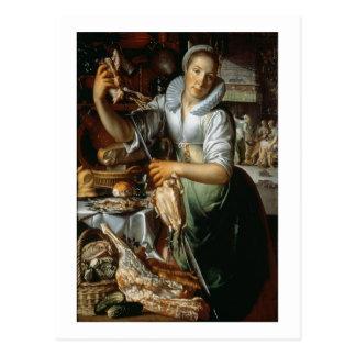 Carte Postale La domestique de cuisine (avec le Christ, Mary et