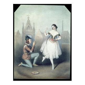 Carte Postale La Esmeralda': Carlotta Grisi et Jules Perrot