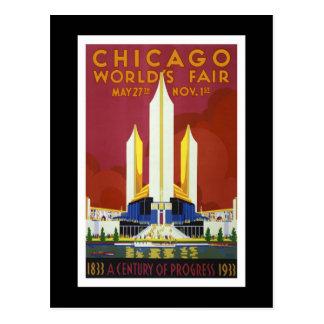 """Carte Postale La """"Exposition universelle, Chicago, 1933"""" crus"""