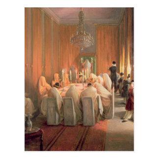 Carte Postale La famille de Rothschild à la prière