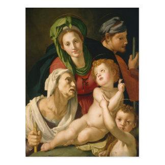 Carte Postale La famille sainte - Agnolo Bronzino
