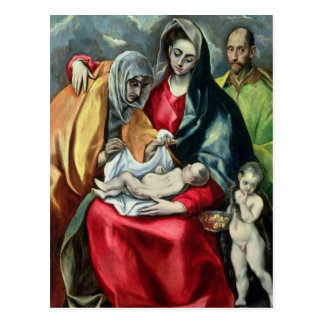 Carte Postale La famille sainte avec St.Elizabeth, 1580-85