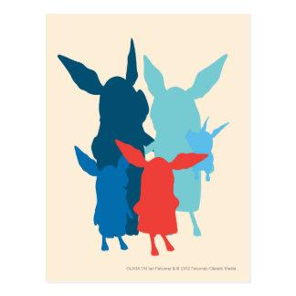 Carte Postale La famille - silhouette