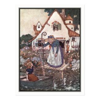 Carte Postale La femme apprise dans la magie par Edmund Dulac