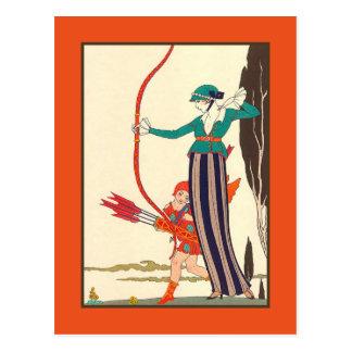 Carte Postale La femme Archer