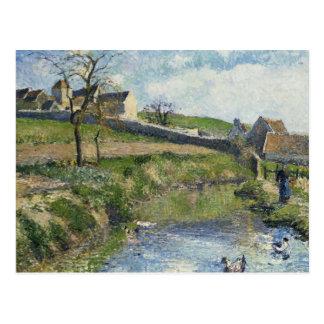 Carte Postale La ferme chez Osny, 1883