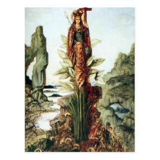 Carte Postale La fleur mystique par Gustave Moreau