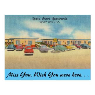 Carte Postale La Floride, appartements de plage de jet, plage de