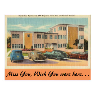 Carte Postale La Floride, Fort Lauderdale, appartements de