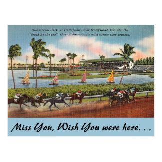 Carte Postale La Floride, Hallendale, Gulfstream Park