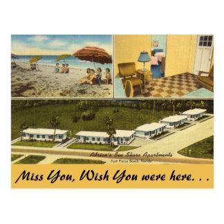 Carte Postale La Floride, pi Pierce, appartements de bord de mer