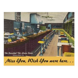 Carte Postale La Floride, wagon-restaurant de Chambre de tuile,