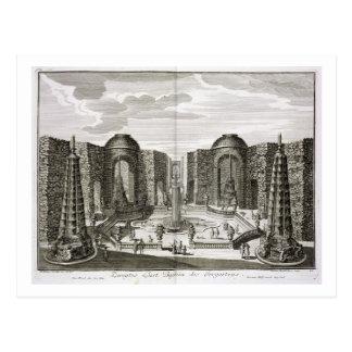 Carte Postale La fontaine dans le labyrinthe au plaisir princier