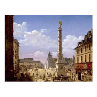 Carte Postale La fontaine dans l'endroit du Chatelet