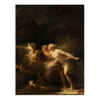Carte Postale La fontaine de l'amour par Jean-Honore Fragonard
