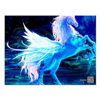 Carte Postale La forêt de licorne tient le premier rôle le bleu