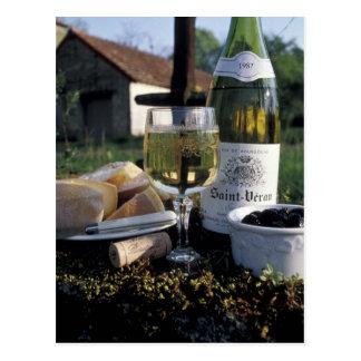 Carte Postale La France, Bourgogne, Chablis. Vin du pays et