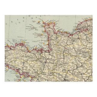 Carte Postale La France du nord-ouest 2