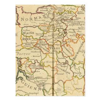 Carte Postale La France et frontières