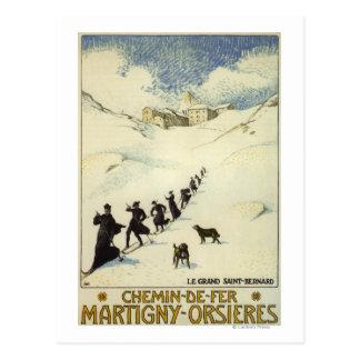 Carte Postale La France - ski de moines