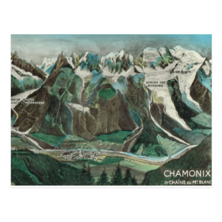 Carte Postale La France vintage, Chamonix, Mont Blanc