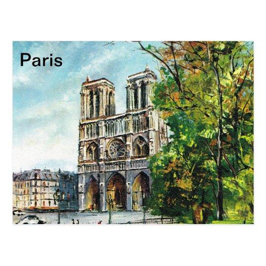 Carte Postale La France vintage, Notre Dame de Paris | Zazzle.fr