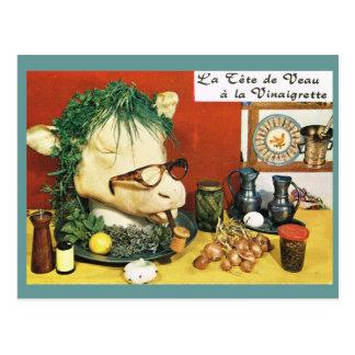 Carte Postale La France vintage, nourriture, Le tete de Vaux