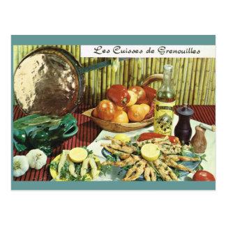 Carte Postale La France vintage, nourriture, Les Cuisses de