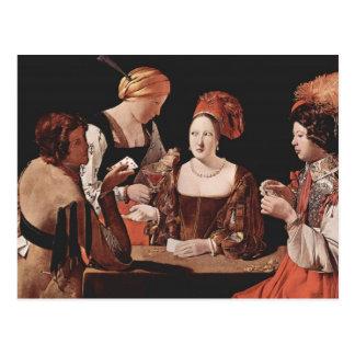 Carte Postale La fraude (avec l'as des diamants) - 1635