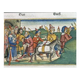 Carte Postale La genèse 42 25-28 Joseph envoie à ses frères les