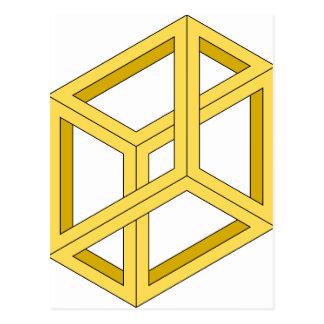 Carte Postale La géométrie impossible de l'illusion 3d