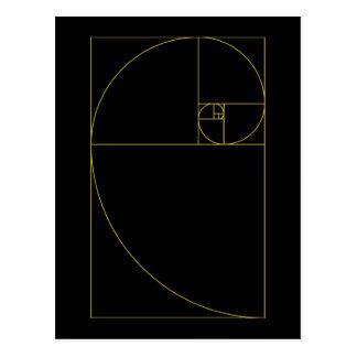 Carte Postale La géométrie sacrée en spirale d'or