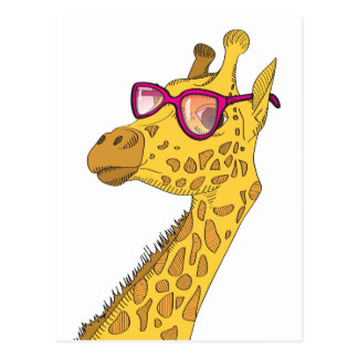 Carte Postale La girafe de hippie