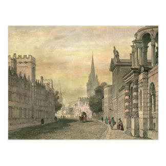 Carte Postale La grand-rue, Oxford, gravé par G. Hollis