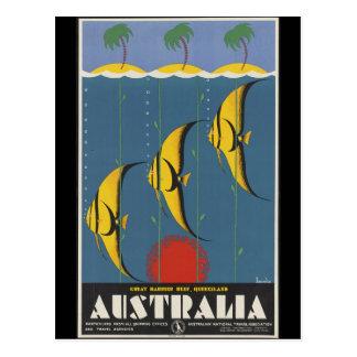 Carte Postale La Grande barrière de corail Australie