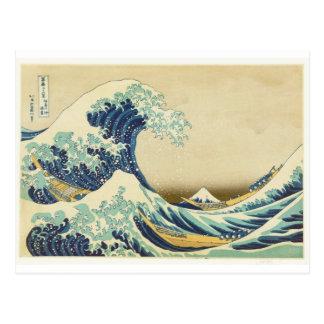 Carte Postale La grande vague outre du rivage de Kanagawa