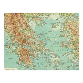 Carte Postale La Grèce et l'égéen