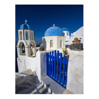 Carte Postale La Grèce et l'île grecque de la ville de Santorini
