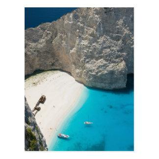 Carte Postale La GRÈCE, îles ioniennes, ZAKYNTHOS, NAUFRAGE