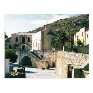 Carte Postale La Grèce, monastère orthodoxe grec de Preveli