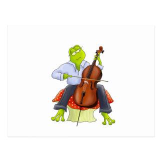 Carte Postale La grenouille joue le violoncelle