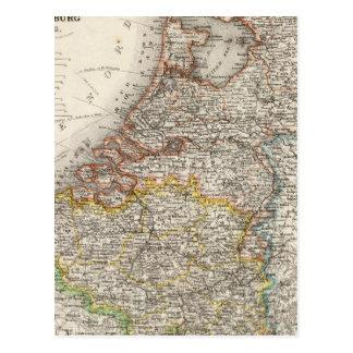 Carte Postale La Hollande, Belgique, Luxembourg