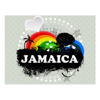 Carte Postale La Jamaïque fruitée mignonne