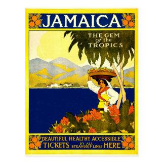 Carte Postale La Jamaïque la gemme de l'affiche 1910 de voyage