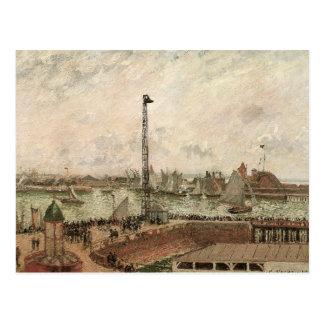 Carte Postale La jetée du pilote, le Havre par Camille Pissarro