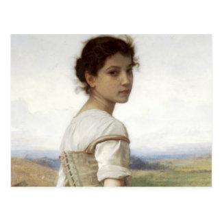 Carte Postale La jeune bergère - la jeune fille